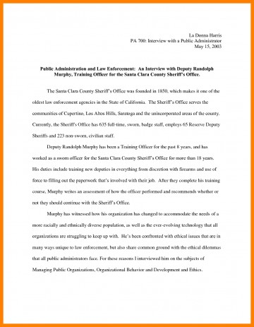 010 Essay Example Narrative Interview Writing An 308901 Exceptional Outline First Job 360