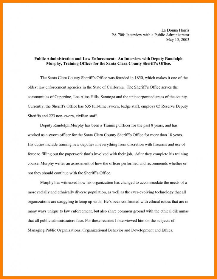 010 Essay Example Narrative Interview Writing An 308901 Exceptional Outline First Job 728