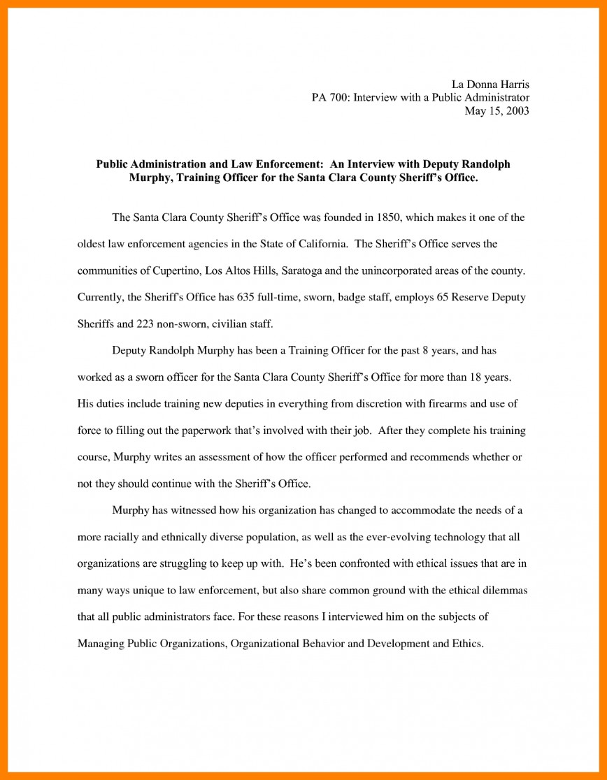 010 Essay Example Narrative Interview Writing An 308901 Exceptional Outline First Job 868