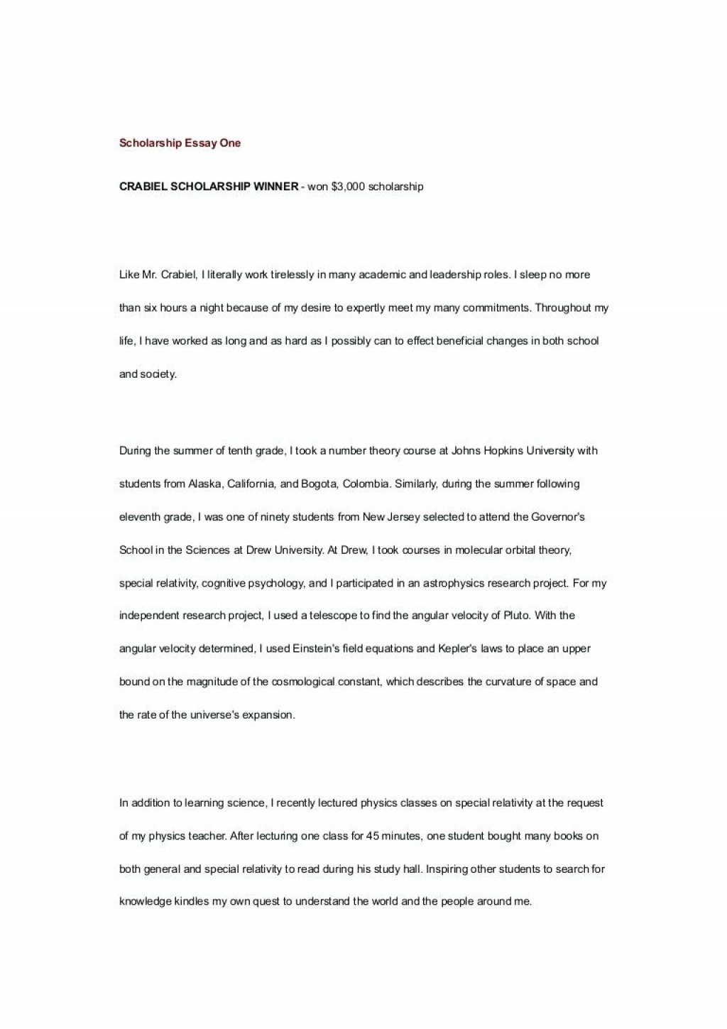 010 Essay Example No Scholarship College Application Template Legit Resume Cover Letter Thumbnail For Sample Wondrous Scholarships High School Seniors Niche Reddit Large