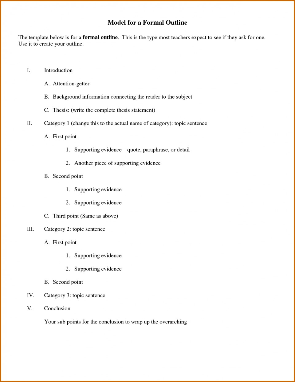 010 Essay Example Outline For Informal Marvelous Worksheet Format Research Paper Introduction 960