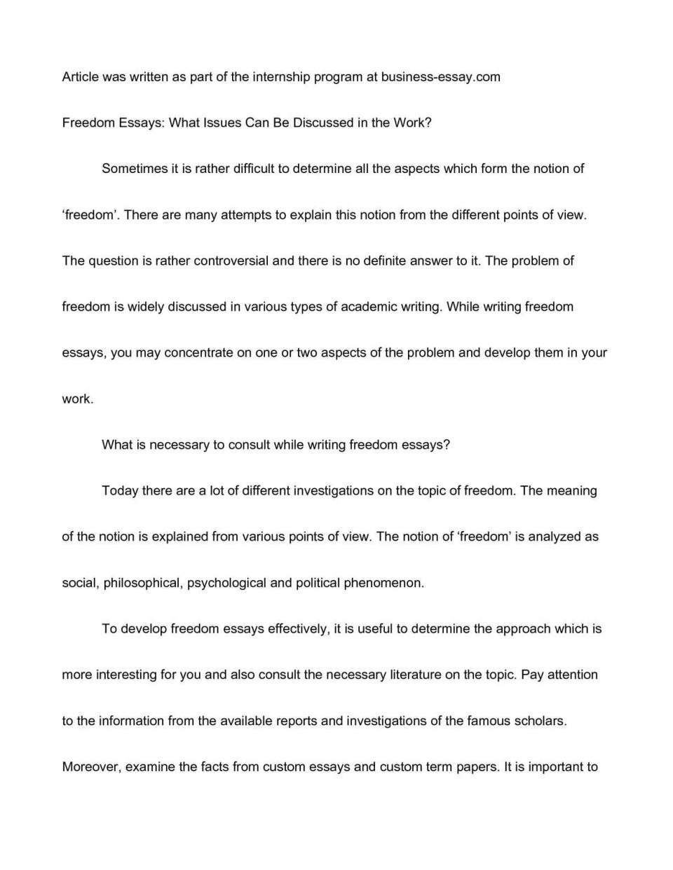 010 Essay Example P1 Breathtaking Freedom Contest Riders Conclusion Scholarship 960