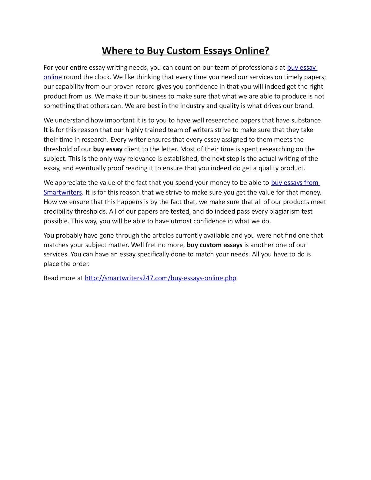 010 Essay Example P1 Buy Custom Essays Impressive Online Full