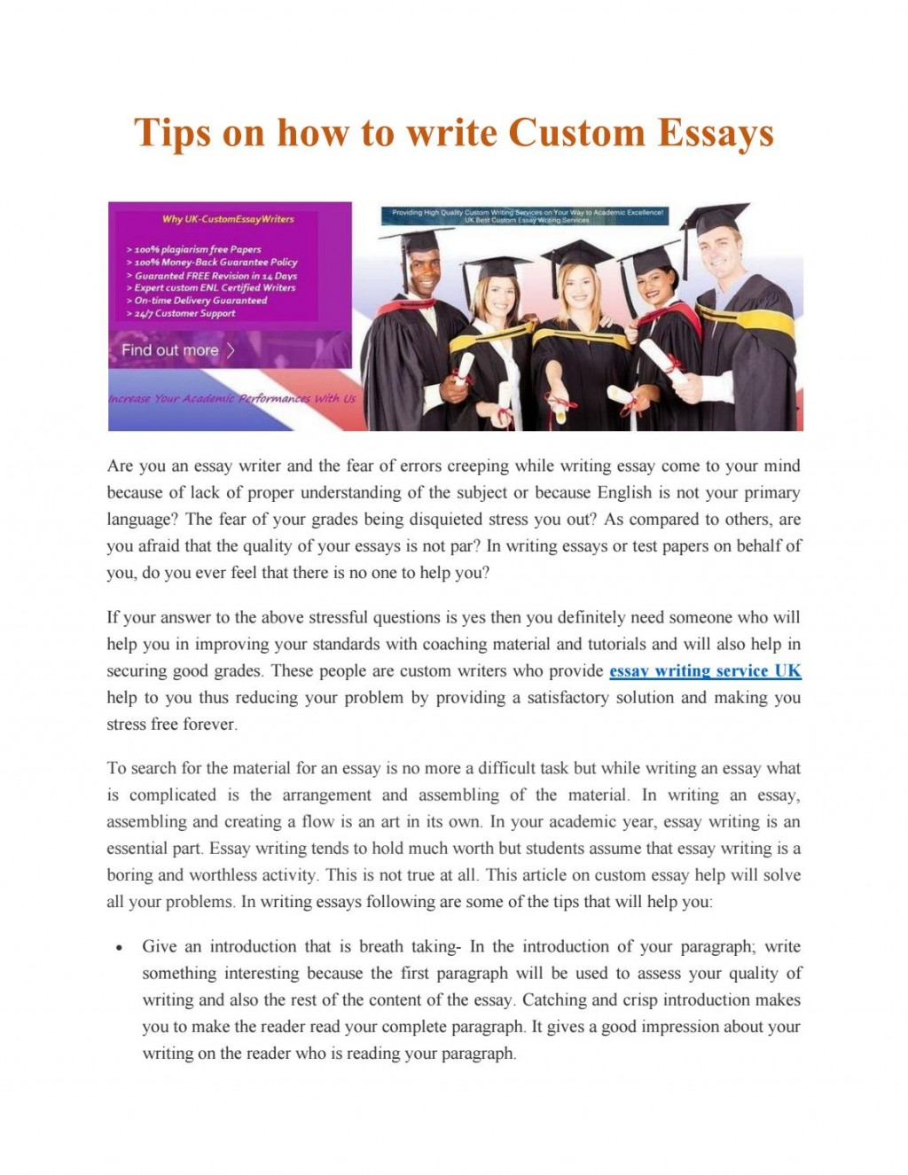 010 Essay Example Page 1 Custom Awesome Writing Services Canada Reviews Service Large