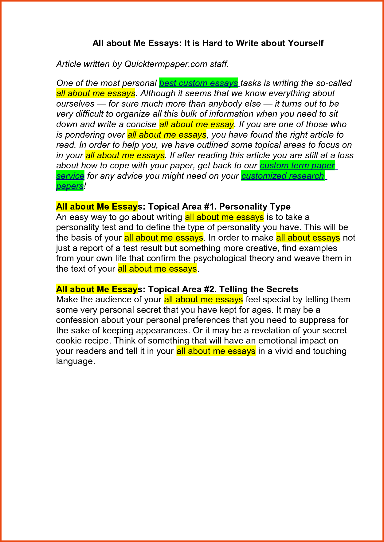 010 Essay Example Personal About Yourself Examples Sample Collegesions Good Mba Essays School Application For Confortable Resume In Formidable Pdf Full