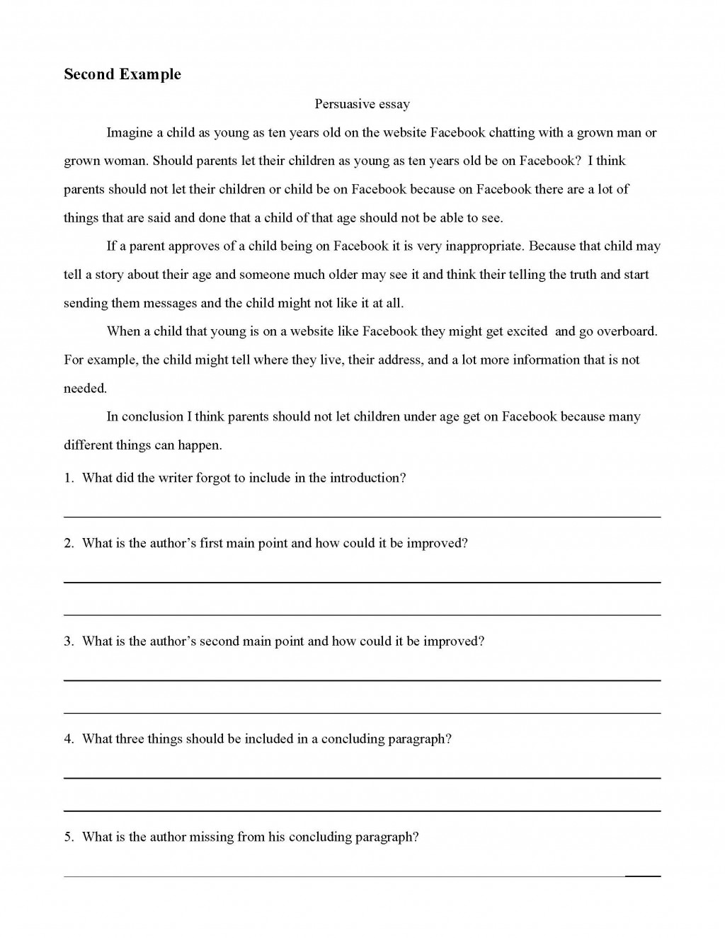 010 Essay Example Persuasive Examples Impressive College Athletes Should Get Paid For Middle School Staar Large