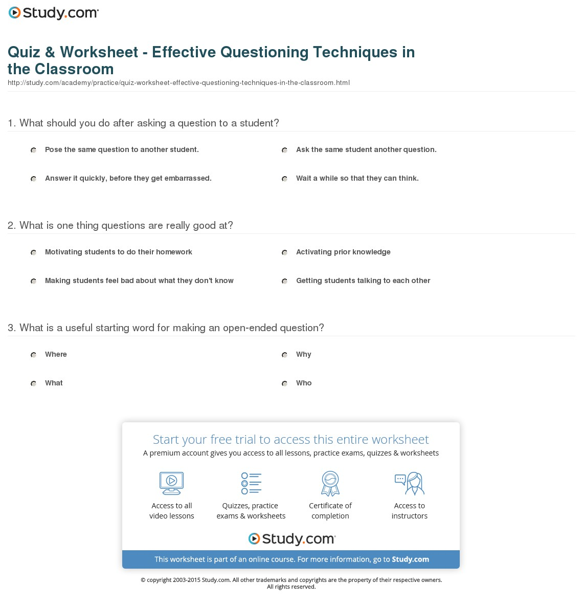 010 Essay Example Quiz Worksheet Effective Questioning Techniques In The Classroom American Fascinating Revolution Causes Of Conclusion Outline Introduction Full
