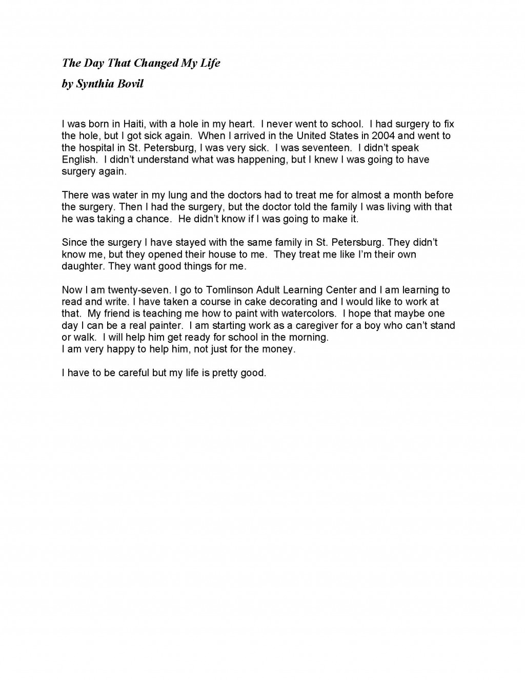 010 Essay Example Student Stories May 2014 Page 1 How Technology Has Changed Our Awesome Lives Pdf On For The Worst Large