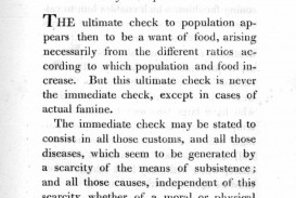 010 Essay Example Thomas Malthus An On The Principle Of Marvelous Population Summary Analysis Argued In His (1798) That