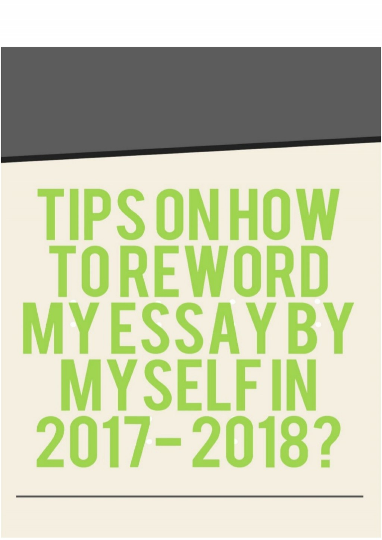 010 Essay Example Tipsonhowtorewordmyessaybymyselfin2017 Thumbnail Amazing Reword Generator Free Large