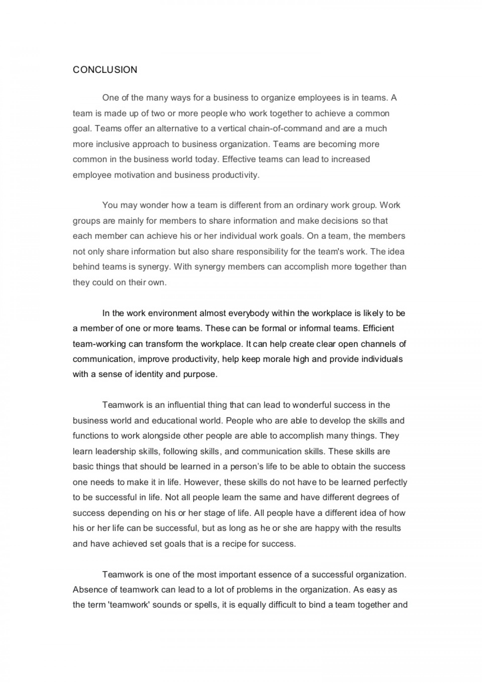 010 Essay Example Ways To End An Conclusion Team Work How Write Synthesis Your Argumentative Conclusionteamwork Lva1 App6891 Thumbn Body Paragraph Archaicawful With A Bang Start And Funny 1920