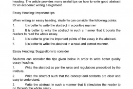 010 Essay Example What Is Heading In An Stirring A Apa