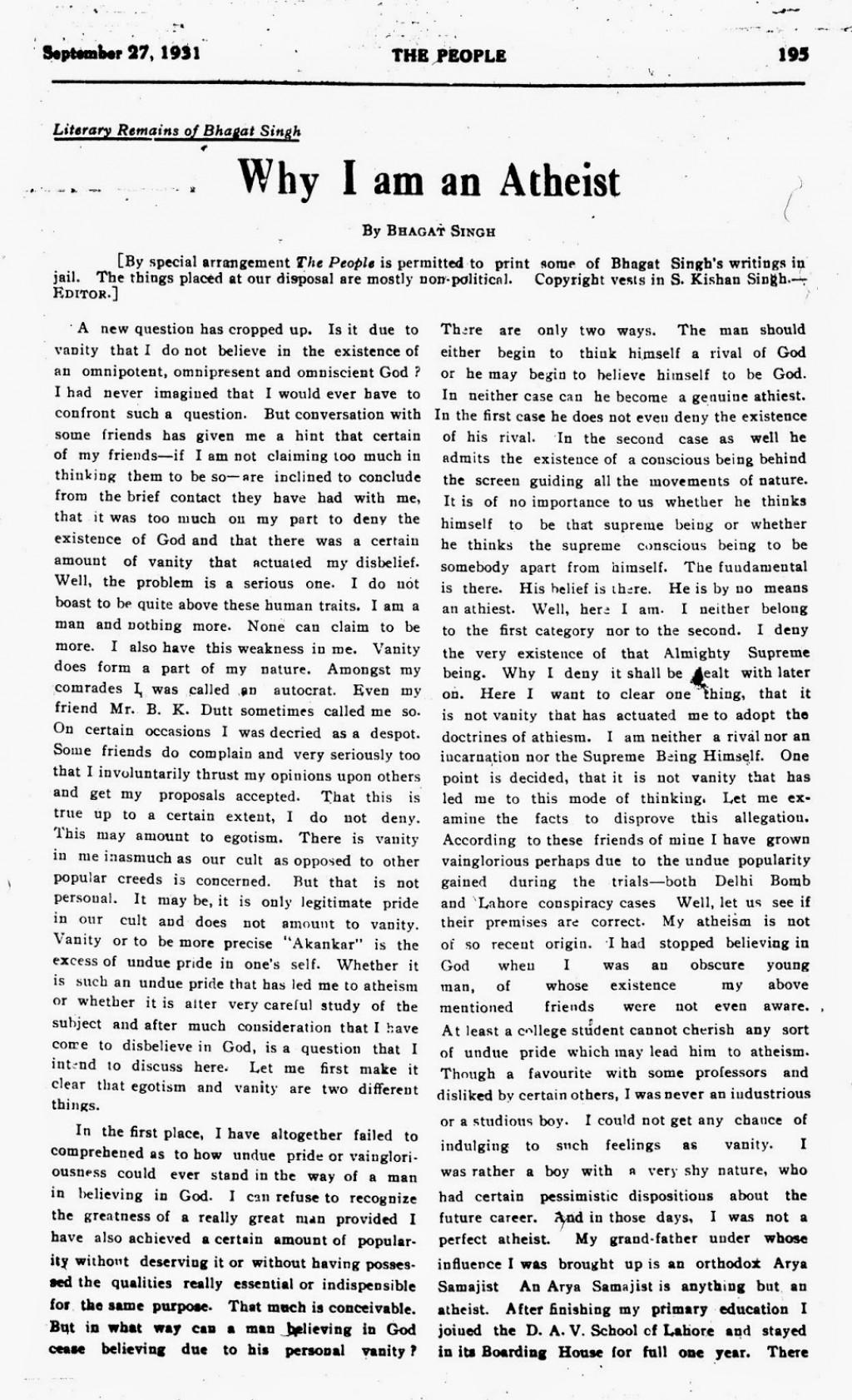 010 Essay On Bhagat Singh In Marathi Example Why2bi2bam2ban2batheist Unique Short 100 Words Large