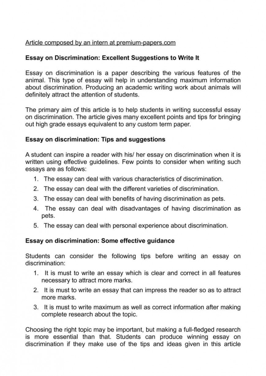 010 Essay On Discrimination Excellent Suggestions To Write It How An Prejudice And Racial Paper 1048x1483 Wonderful Kill A Mockingbird Plan Tkam Topics