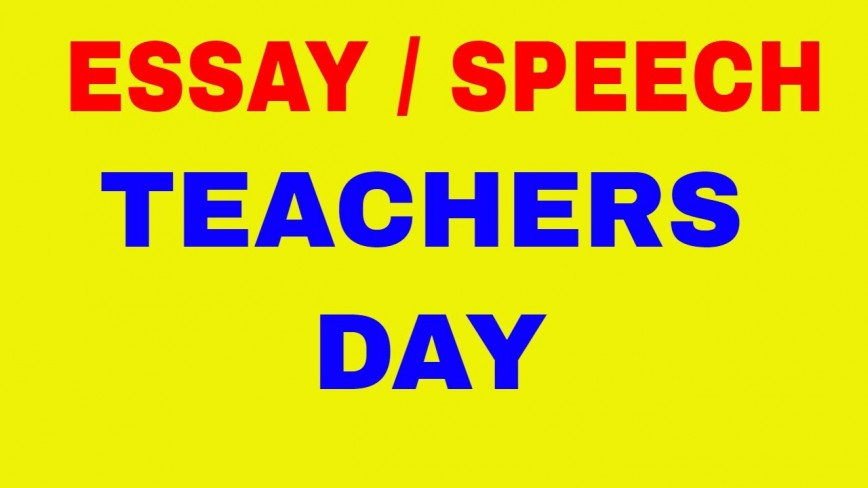 010 Essay On Teachers Day In India Example Fascinating 868