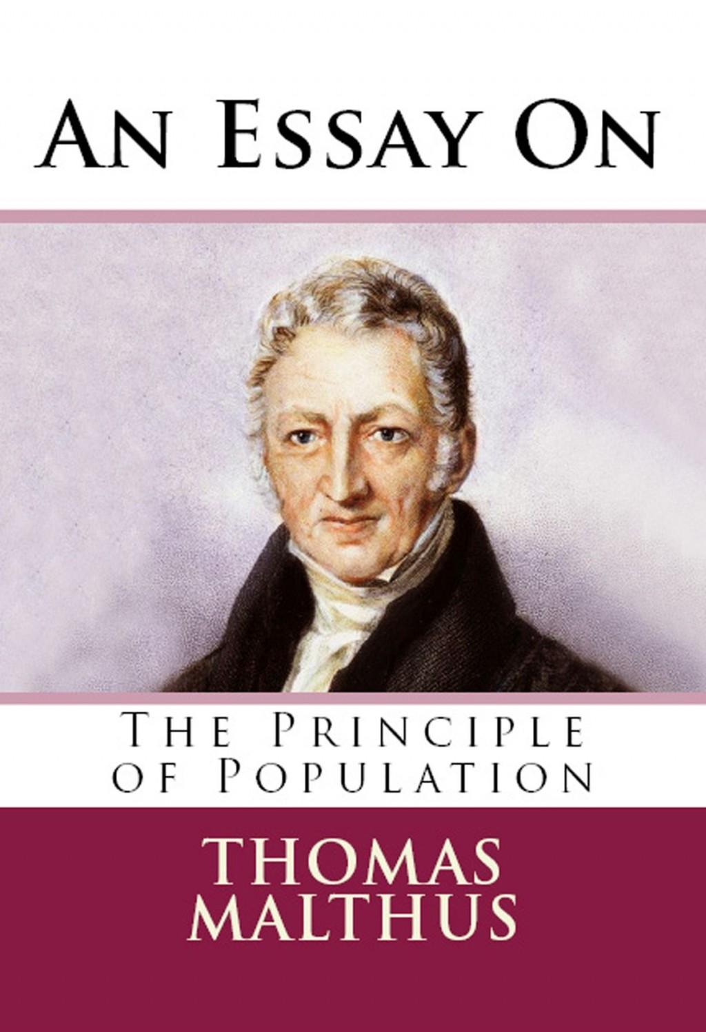 010 Essay On The Principle Of Population An Singular Pdf By Thomas Malthus Main Idea Large