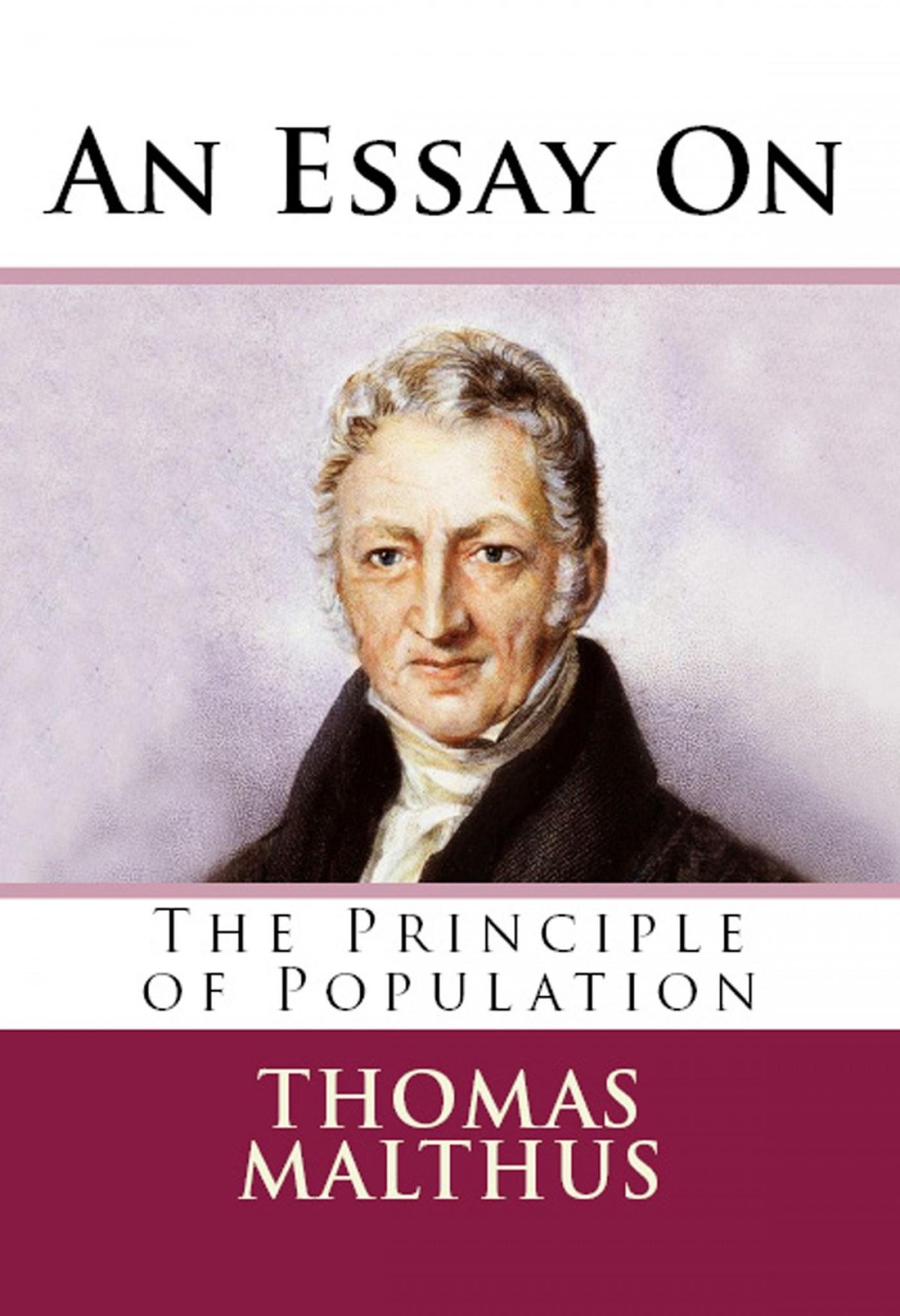 010 Essay On The Principle Of Population An Singular Malthus Sparknotes Thomas Main Idea 1400