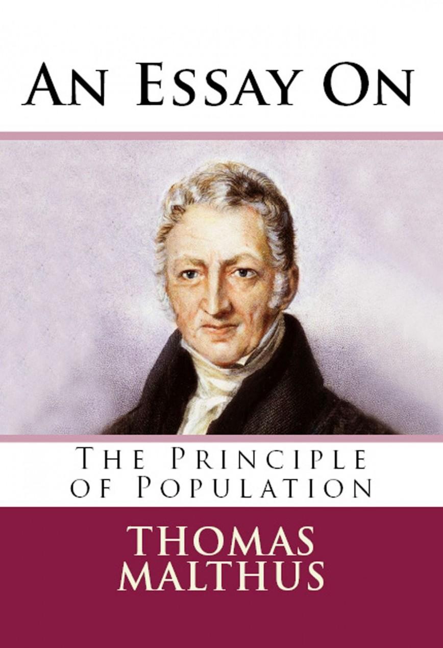 010 Essay On The Principle Of Population An Singular Malthus Sparknotes Thomas Main Idea 868