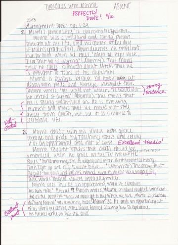 010 Essay On Tuesdays With Morrie Example How To Answer Unusual Analytical Reflection Paper Argumentative 360