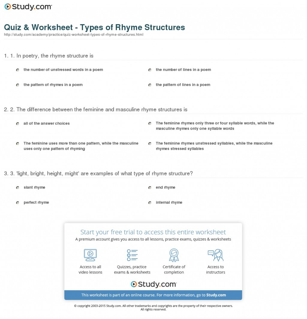 010 Essay Structure Types Quiz Worksheet Of Rhyme Structures Incredible Pdf Organizational Large