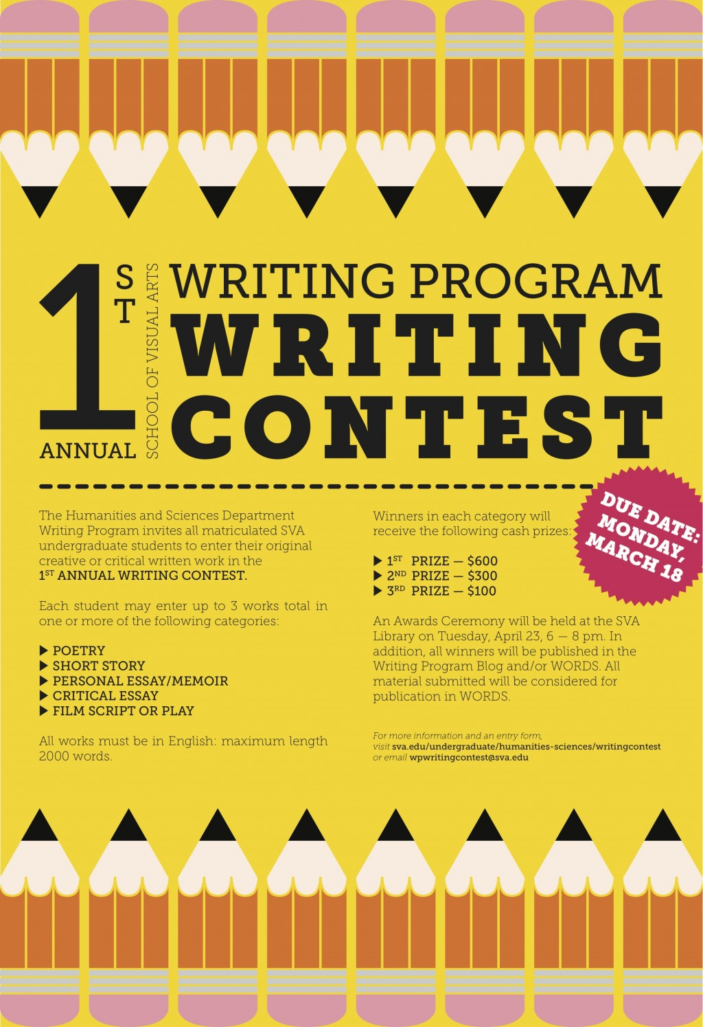 010 Essay Writing Blog 1st Annual Sva Program Contest Criteria Objectives Rubrics Tips Philippines For Nutrition Month Guidelines Mechanics Incredible Competition College Students By Essayhub Sample Large