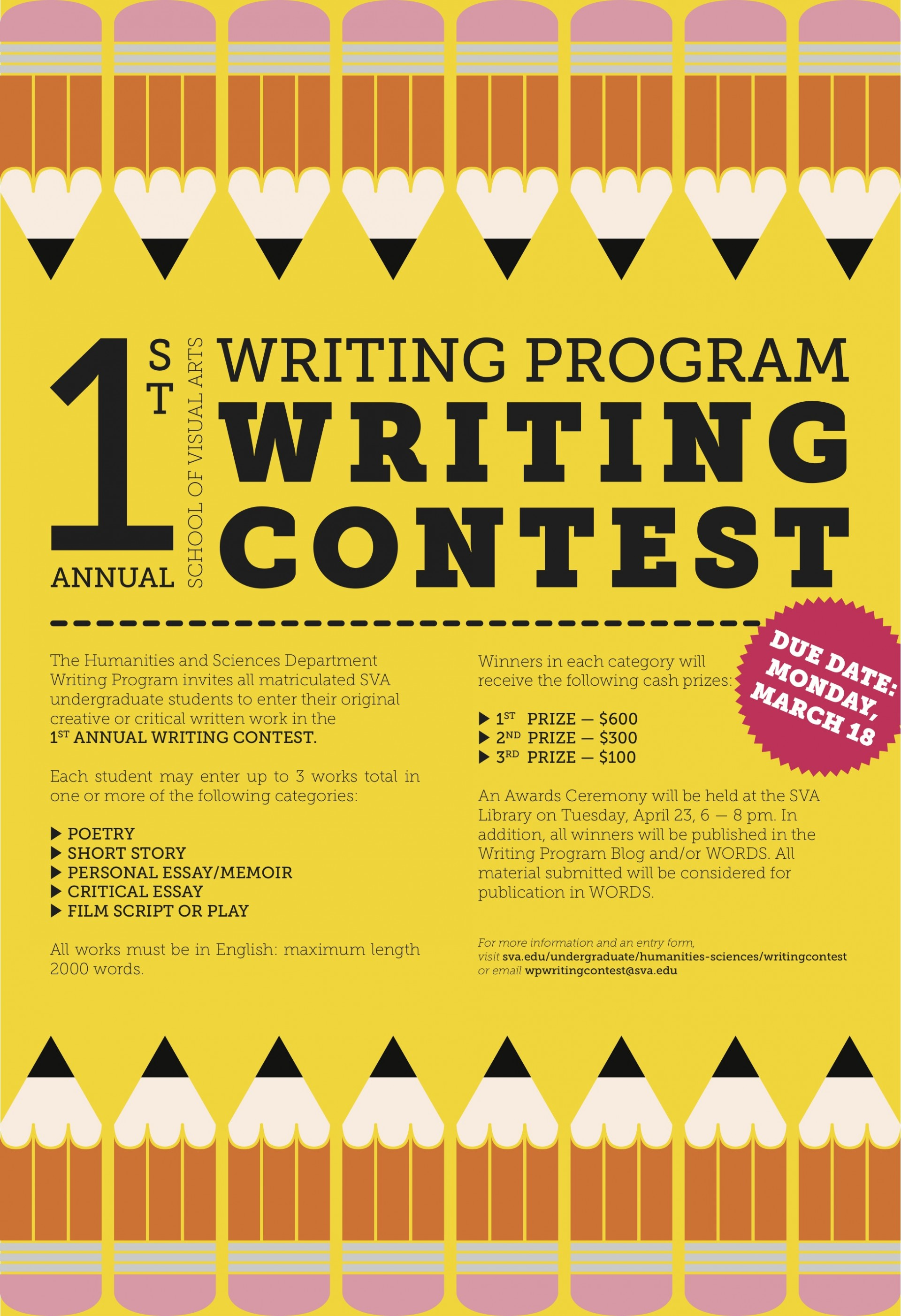 010 Essay Writing Blog 1st Annual Sva Program Contest Criteria Objectives Rubrics Tips Philippines For Nutrition Month Guidelines Mechanics Incredible Competition College Students By Essayhub Sample 1920