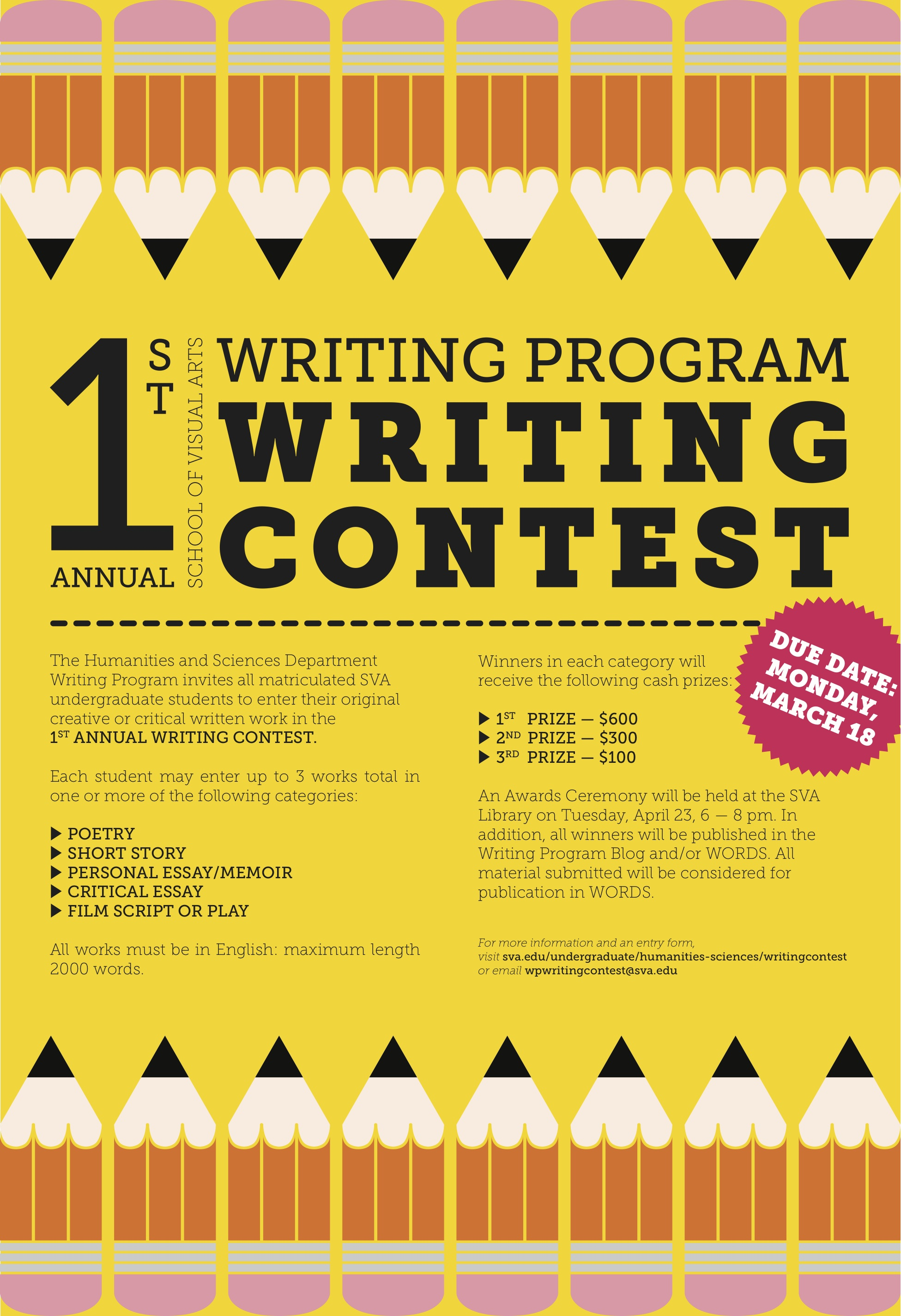 010 Essay Writing Blog 1st Annual Sva Program Contest Criteria Objectives Rubrics Tips Philippines For Nutrition Month Guidelines Mechanics Incredible Competition College Students By Essayhub Sample Full