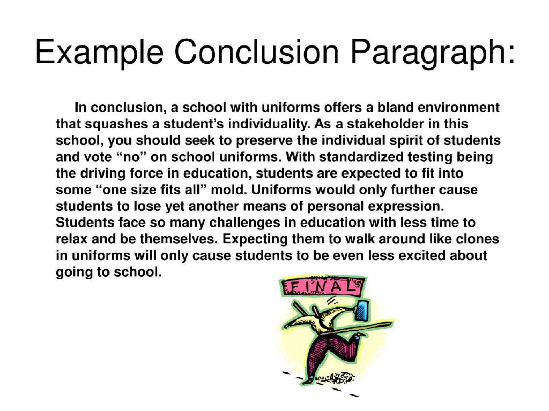 010 Example Conclusion Paragraph L Of Good For An Beautiful A Essay Compare And Contrast Examples Argumentative 1920