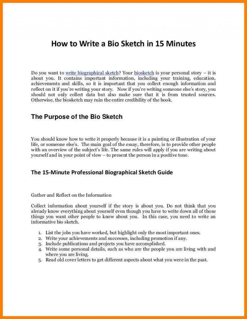 010 Example Of Someones Good Biography Brilliant Ideas Personal Essays Essay Examples Beautiful Topics Image How To Archaicawful Write A Life Large