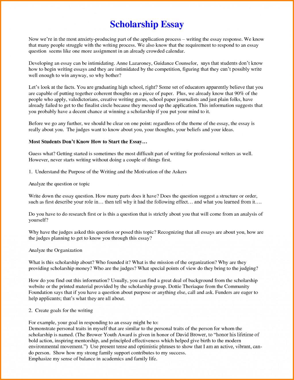 010 Example Scholarship Essays Of Essay Phenomenal Sample For Masters 500 Words Nursing Large