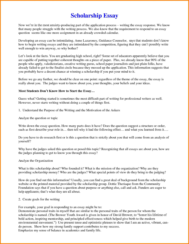 010 Example Scholarship Essays Of Essay Phenomenal Sample For Masters 500 Words Nursing 1920