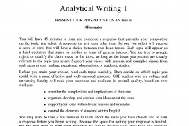 010 Gre Argument Essay Examples Example Unusual Sample Questions Analytical Writing Samples