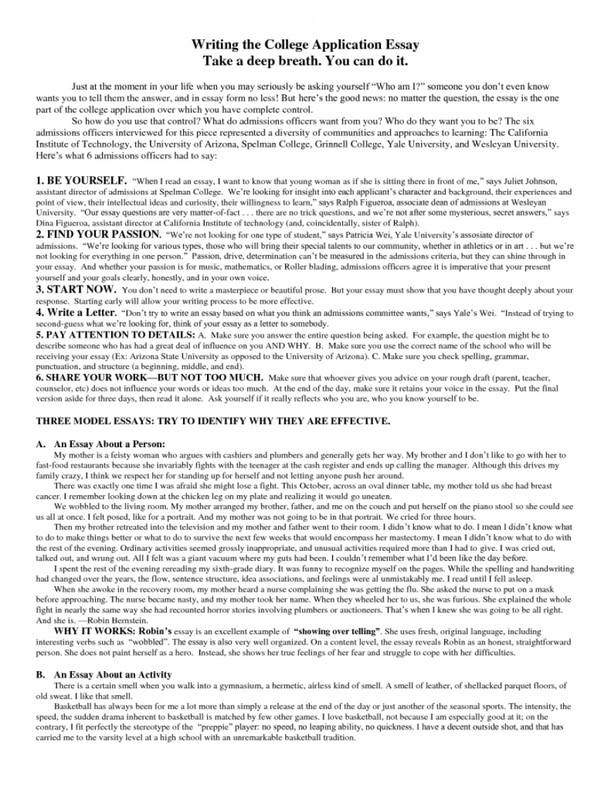 010 Great Common App Essays Good College Essay Samples Printables Corner About Yourself Best Admission Examples Mba Rega Topics Sports That Worked Ideas Family Death Magnificent Ivy League Unique
