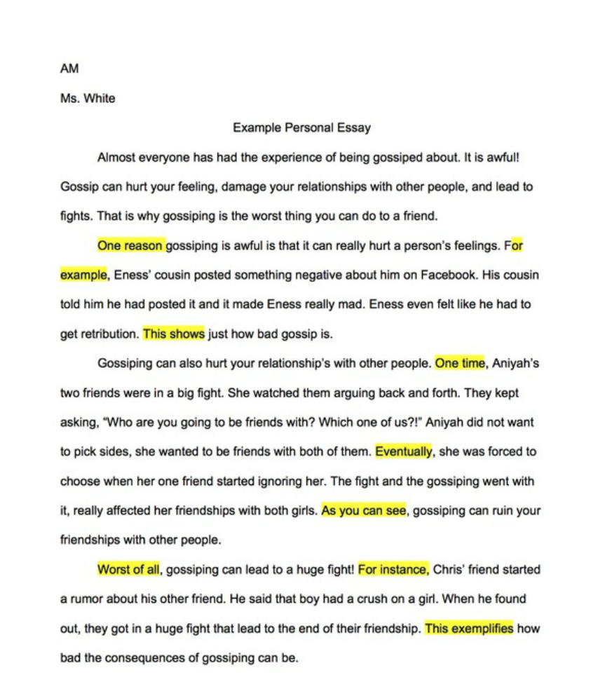 010 Great Example Of Personality Profile Wonderful Essay Full