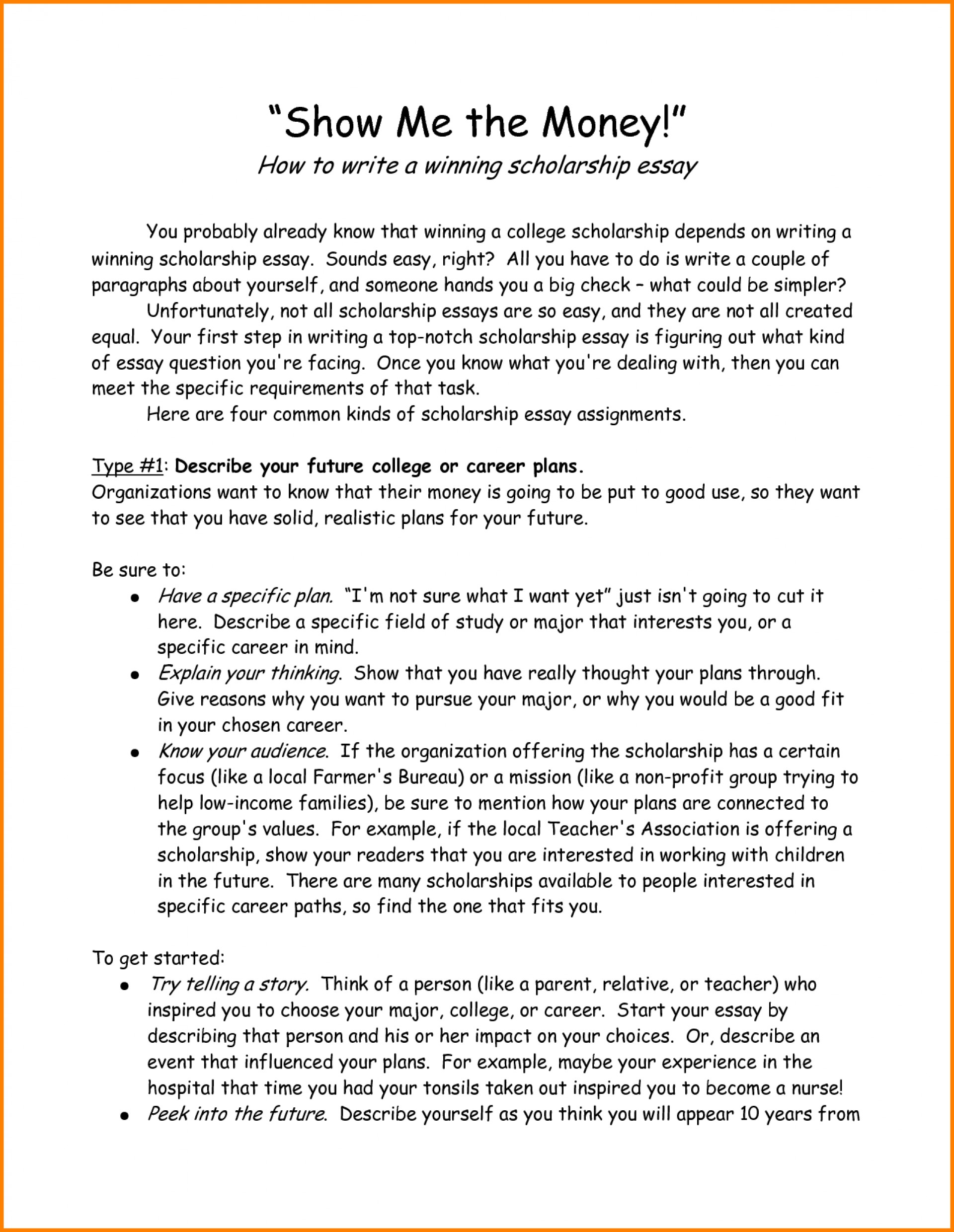 010 How To Start Scholarship Essay Letter Template Word Best Way Write College L Begin An Incredible On A Book You Didn't Read Open Paragraph About Yourself For 1920