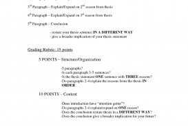 010 Informative Essay Example Dreaded Ideas Rubric 6th Grade