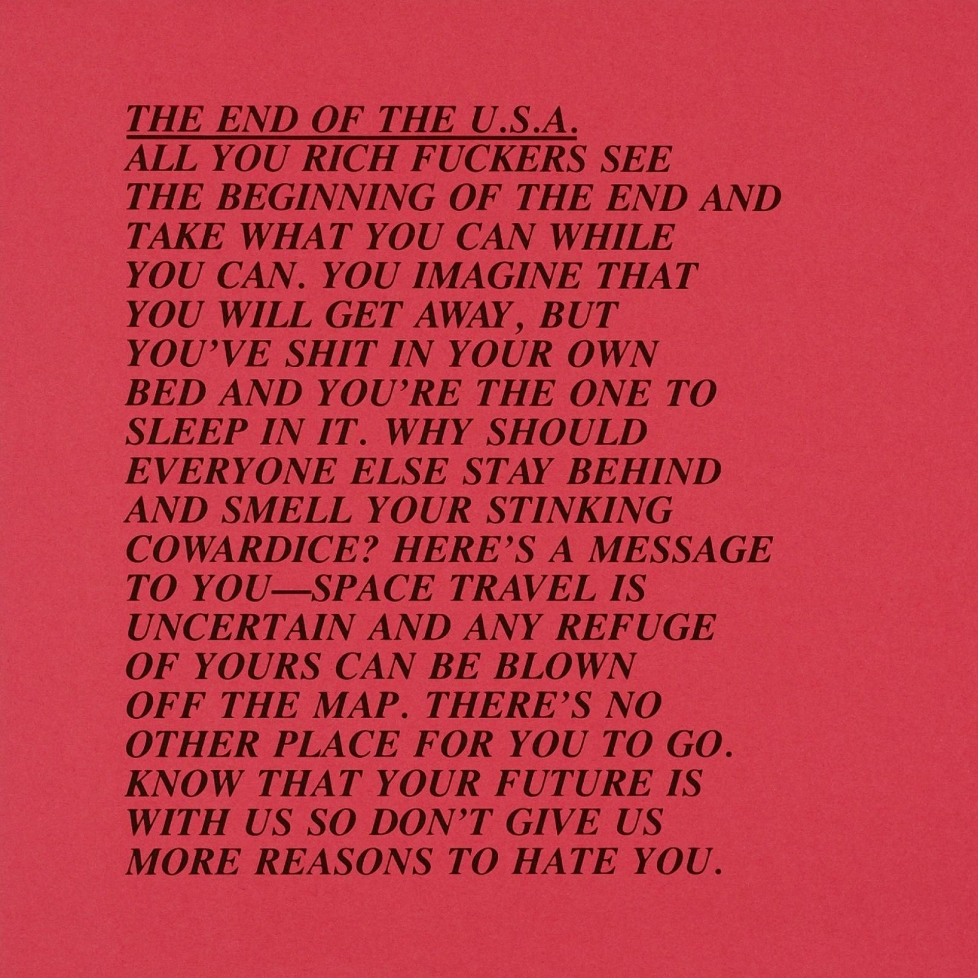 010 Jenny Holzer Inflammatory Essays Essay Awful For Sale Print Buy 1920