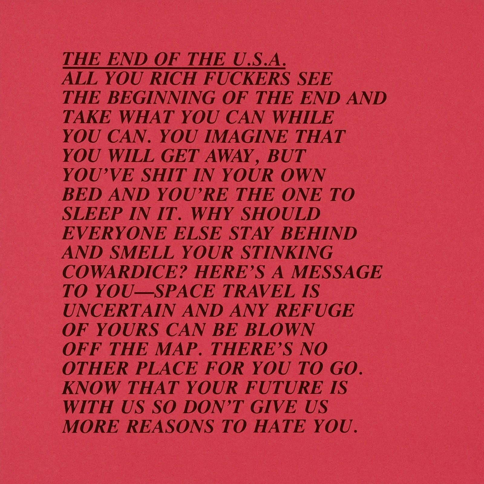 010 Jenny Holzer Inflammatory Essays Essay Awful For Sale Print Buy Full