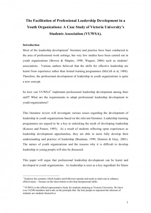 010 Leadership Experience Essay Literaturereviewonyouthleadership Phpapp01 Thumbnail Dreaded For Scholarship Describe Your Examples 480
