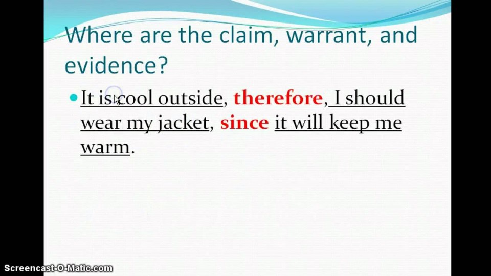 010 Maxresdefault Essay Example Singular Warrant Claim Evidence Glen Search 960