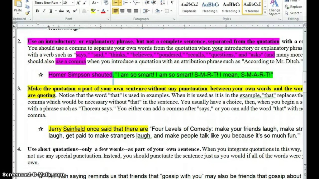 010 Maxresdefault Essay Example How To Insert Quotes Into Breathtaking An A Long Quote Apa In Mla Put Style Large