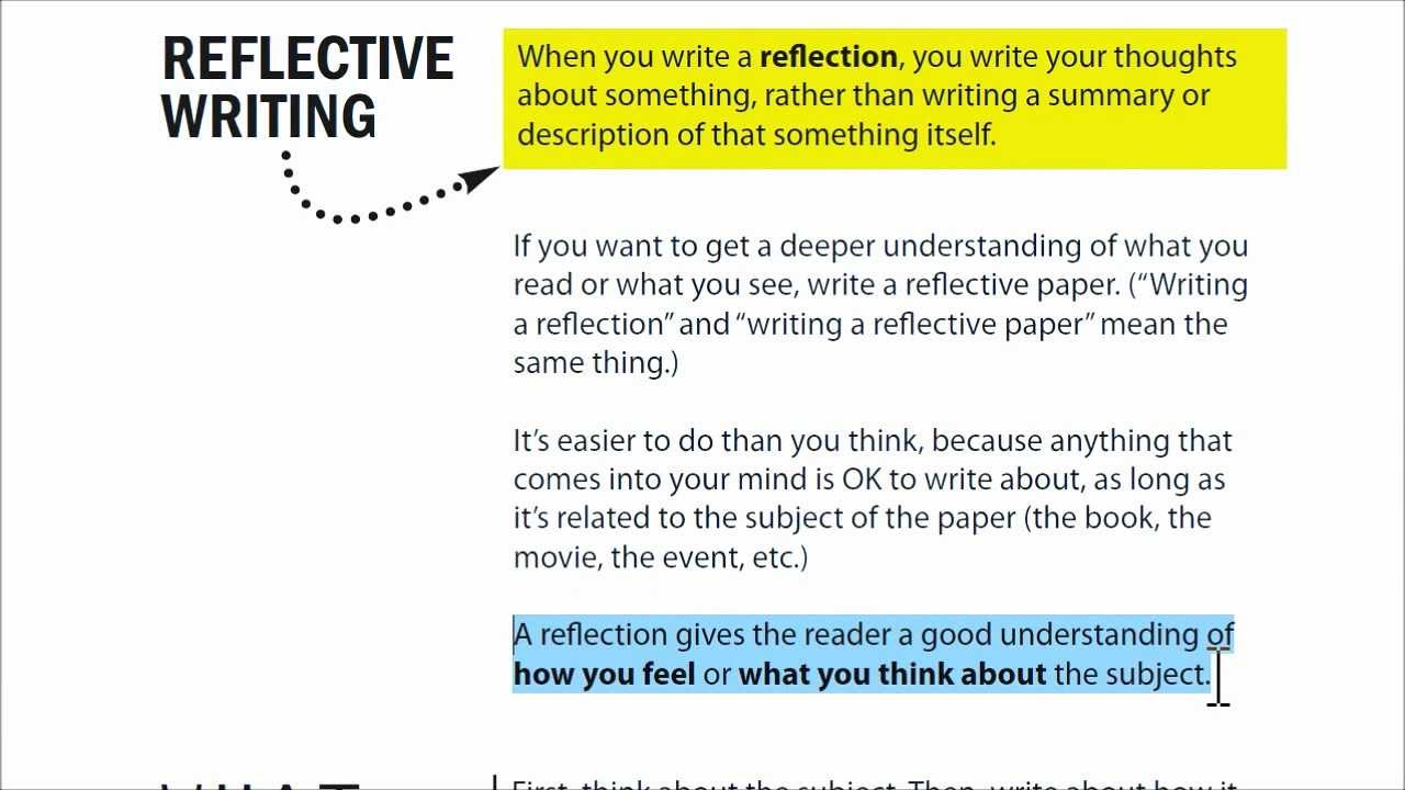 010 Maxresdefault How To Write Reflection Essay Awesome A Reflective Wikihow Do You On Book Thesis Full