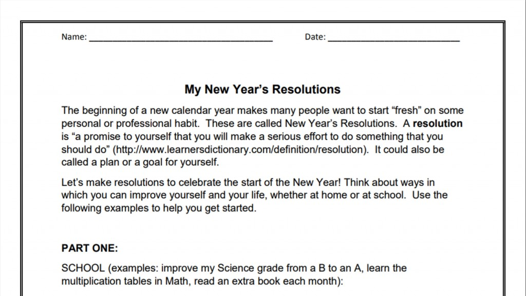 010 My New Year Resolution Essay Singular Student Tagalog In Hindi Large