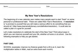 010 My New Year Resolution Essay Singular High School Student 2019 For Class 5