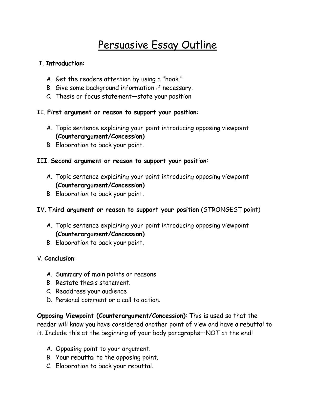 010 Outline Of Essay Persuasive Download As Doc Impressive Argumentative Sample Mla Format Full