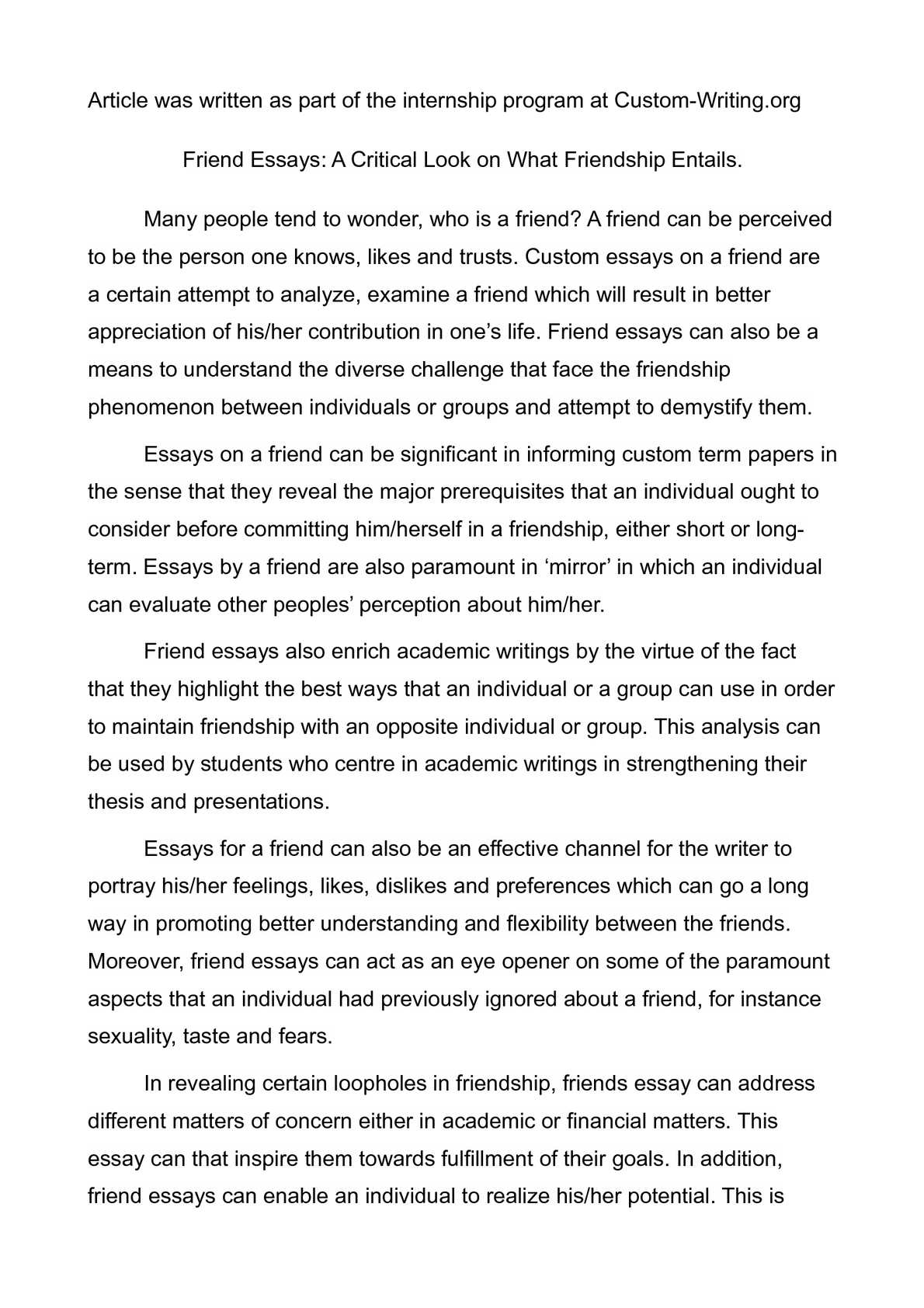010 P1 Essay Example Marvelous Friends For Class 2 Introduction My Best Friend In Hindi Full
