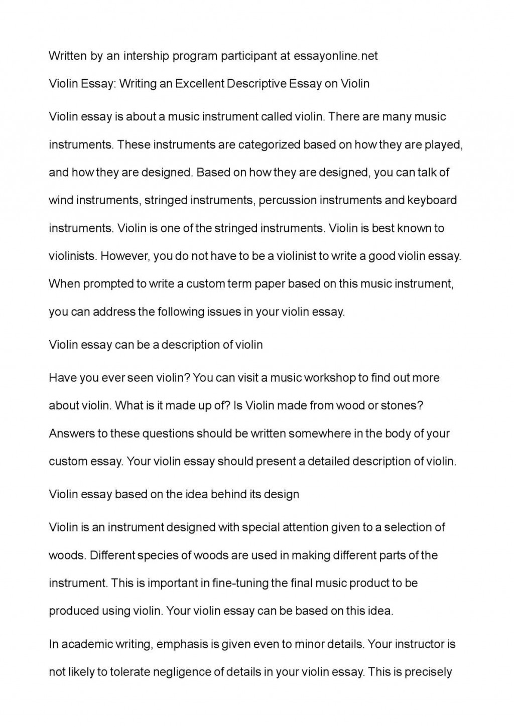 010 P1 Example Of Descriptive Wondrous Essay About A Place Love Pdf Introduction Large
