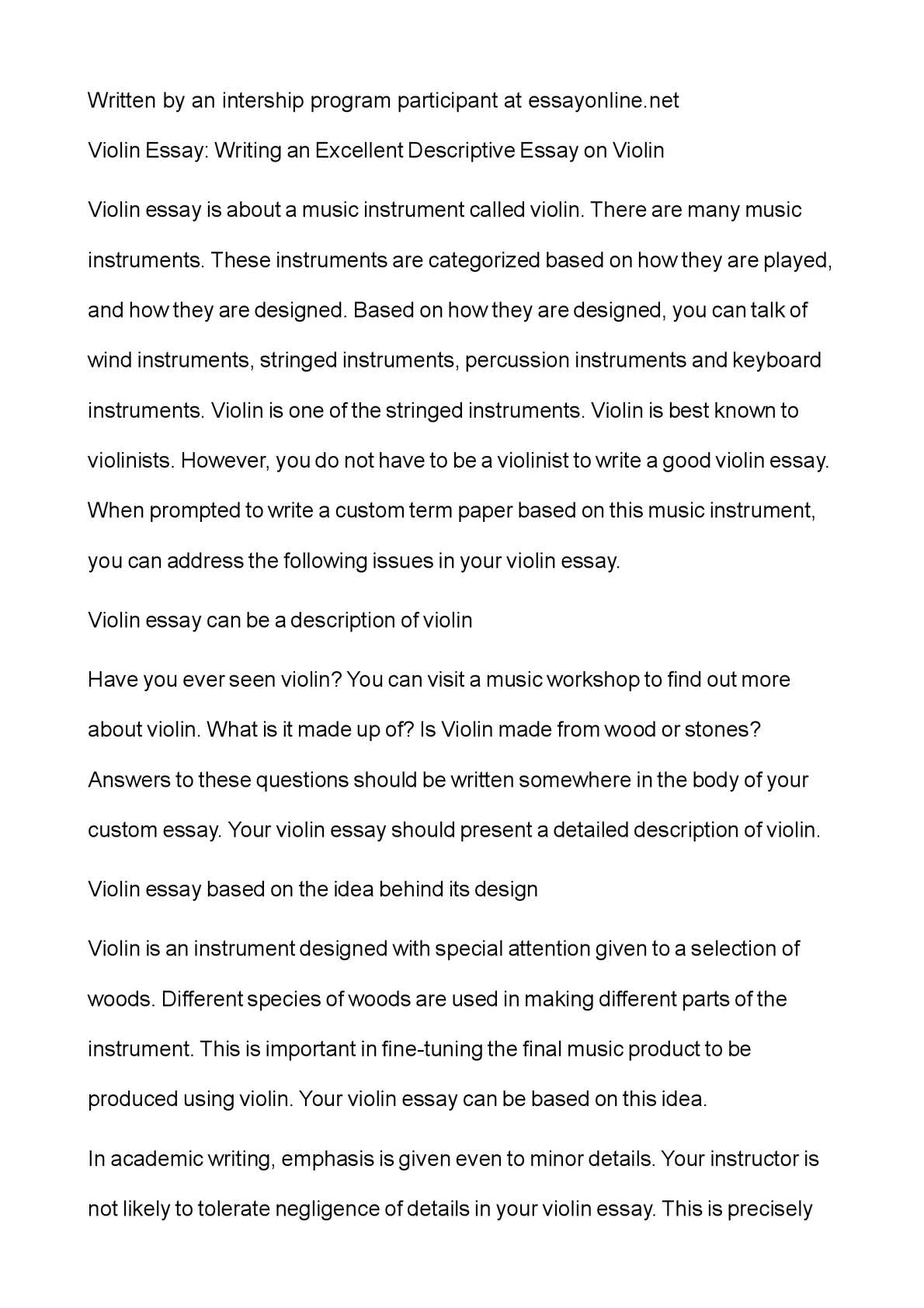 010 P1 Example Of Descriptive Wondrous Essay About A Place Love Pdf Introduction Full