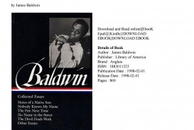 010 Page 1 Essay Example James Baldwin Collected Wondrous Essays Table Of Contents Ebook Google Books