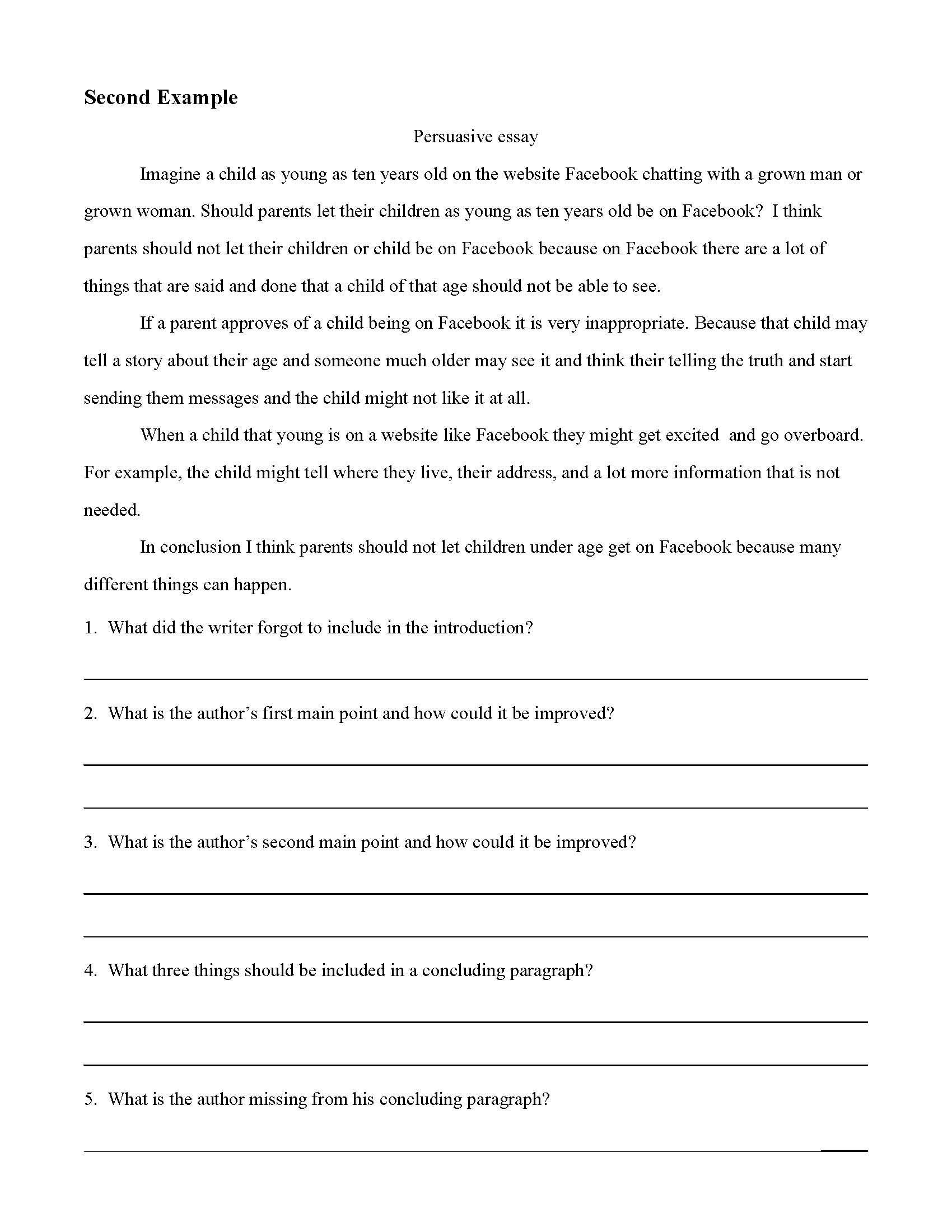 010 Persuasive Essays Of Excellent Examples 5th Grade Written By Graders Example Argumentative-persuasive Essay Topics Full